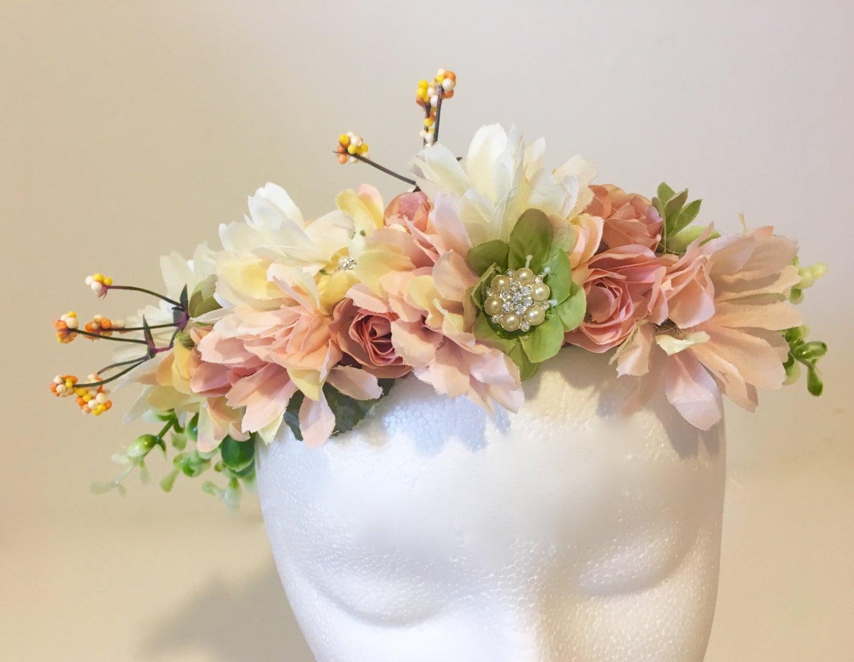 Flower Girl Crown Bridal Hair Wreath Floral Wreath Headband