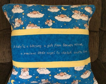 Baby Quilted Pillow Cover