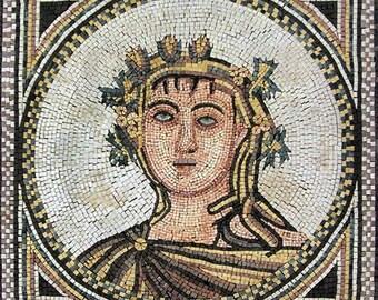Adonis The God Of Beauty Mosaic Art