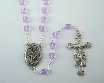 Saint Michael Rosary Your Choice of Bead Color