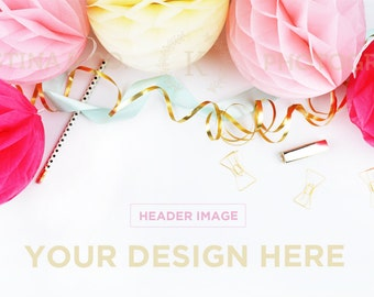 Styled Stock Photography | White desk Styled Desktop | Wedding |  Product Mockup | Product Photography