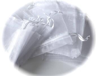 10 white 5 X 7 cm ORGANZA gift bags