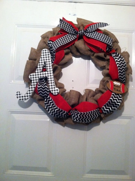 Alabama Collegiate Wreath - Roll Tide Wreath - SEC Football - Crimson Tide - College Football Wreath -Alabama Roll Tide - Nick Saban - SEC