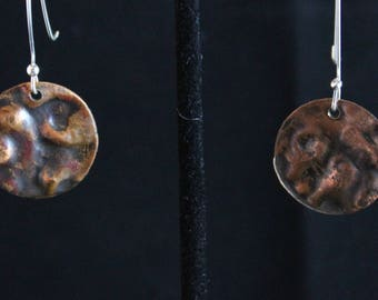 Hammered Copper Earrings (041917-030)
