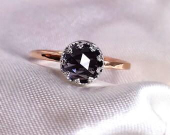 Alexandrite ring, Alexandrite Rose gold ring, Alexandrite engagement ring, Crown Ring, 9ct, 14ct, 18ct solid Gold & Silver ring.