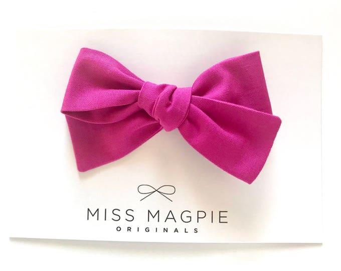 Sloane clip || Magenta