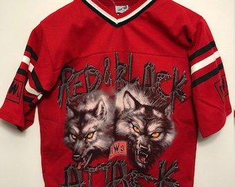 Vintage YOUTH N.W.O Red & Black Attack Mesh Jersey