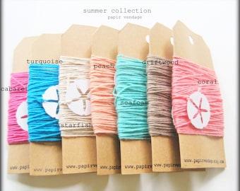 Turquoise Bakers Twine - 10 vgs solide Bakers Twine - Summer Collection assortiment, de mariage, Etiquettes cadeaux, banderoles bannières