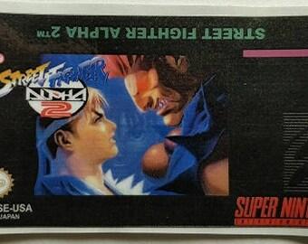 SNES Street Fighter 2 Alpha Label