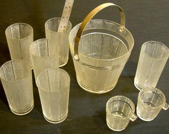 glass drinks set