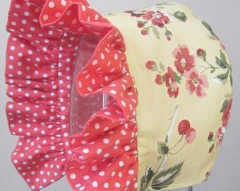 Baby Bonnet- Cherry Blossom Garden-Reversible