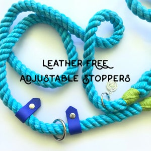 Leather Free Adjustable Leash Stoppers, Waterproof, Dirt-proof, Stink Proof, Durable vegan leather