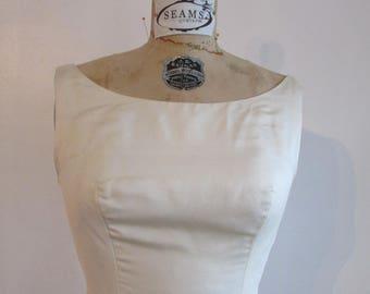Vintage Silk Wedding Dress 1960s - Candace