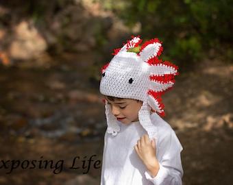 Axolotl Crochet Hat Pattern