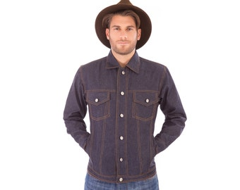 SALE!! Mens Denim Long Sleeve Jacket