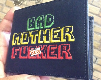 RASTA MARLEY Bad Mother Fucker Wallet Embroidered BMF Brand by SexyPimp Vintage
