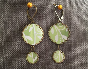 "Aluminum Jewelry Earrings ""Spring Leaves"""