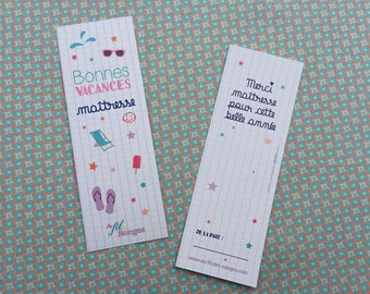 """Teacher bookmark """"Holiday Centerpiece, thank you for this year!"""""""