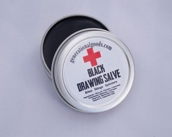 Black Drawing Salve for Bites Stings Splinters Mosquito Bee Spider Tick Natural First Aid Kit