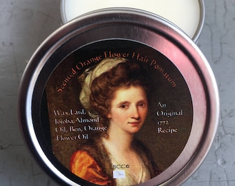 Orange Flower Pomatum - Pomade Natural Hair Product Historical Hairstyle 18th Century Pomade Colonial Pomade Historical Orange Flower EO