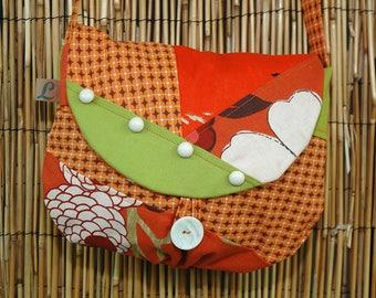 Clutch bag Patchwork shoulder Lina Ref Collection fabrics 4098