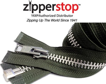 7 Inch to 36 Inch Extra Heavy Duty SALE, Zippers wholesale YKK 10 Aluminum Chaps Separating By each (Options Length and Color)
