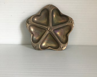 Vintage FRENCH Madeleines COOKIE MOLD Chocolate Candy Molds 5 Cookies Paris,Heart Mold