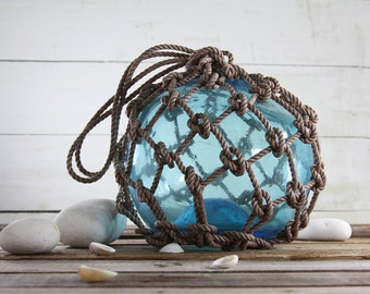 Beach Decor Light Blue Big Onion Fishing Float by SEASTYLE