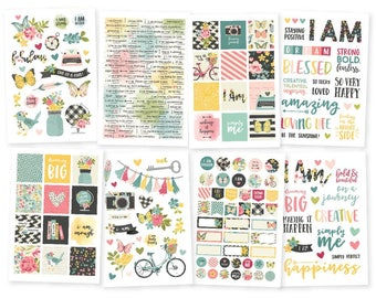 I Am Stickers Stickers - Simple Stories for Bible Journaling, found at ByTheWell4God