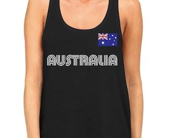 Australia Country Pride Outback Canberra Australian Aussie Sydney Melbourne Brisbane Womens Racerback Tank Top AUS-01