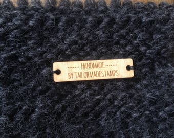 Custom Wooden Tags, Engraved Tags, Personalized Knitting Tags, 10 Custom Tags