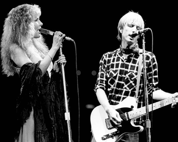Tom Petty & Stevie Nicks Legendary Singer-Songwriters Musicians - 8X10 or 11X14 Photo (FB-479)