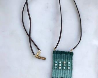 Woven Necklace | Pendant Necklace | Mini Weave | Boho Jewelry