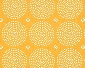 Free Spirit Geometrical Circles - Joel Dewberry - Atrium - Eclipse/Golden/Cotton/Fabric/Quilting/Sewing