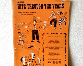 Vintage Song Book Hits Throughout the Years, Vintage Sheet Music, 1920s Music and Nostalgia, Americana Nostalgia Song Book, Vintage Music
