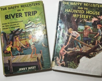 Happy Hollisters 2 Volumes Vintage Childrens Books Doubleday for Young Readers Collectible Books Book Gifts Vintage Books Illustrations