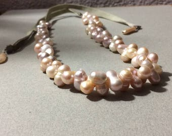 Chunky Fresh Water Pearl Necklace & Bracelet