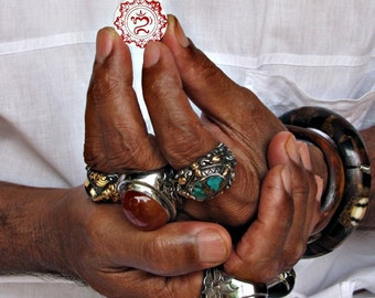 Ongkara Balinese Om Scrapbook Embellishments 6pcs