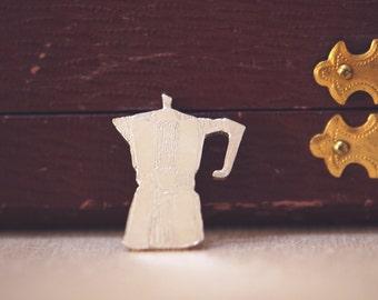 Brooch Silver coffee pot/percolator