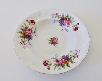 Vintage Enchanted Garden Soup Bowl