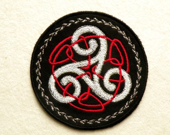 """Small Triskele Iron on Patch 4"""""""