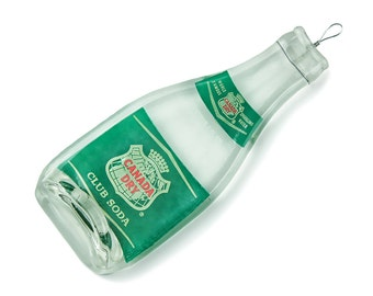 Vintage Canada Dry Club Soda Spoon Rest, Wall Hanging, Vintage Bottle, Melted Bottle, Soda Bottle, Gift for Boss, Christmas Gift Ideas