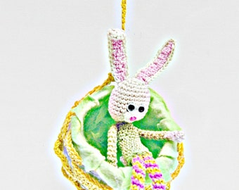 Crochet Doll Pattern - Emma the Bunny Girl, Amigurumi Bunny with Crochet Ball