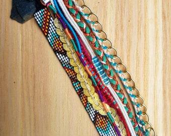 Magnetic multi strand Cuff Bracelet