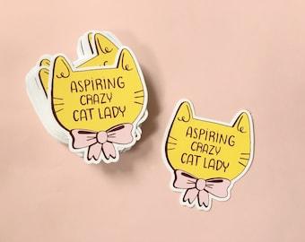 Aspiring Crazy Cat Lady sticker | catlady | vinyl stickers