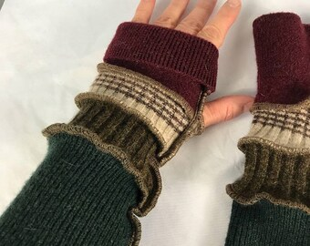 Arm Warmers, Fingerless Gloves, Katwise Inspired