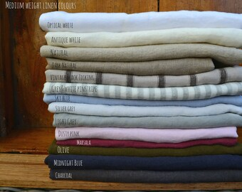 4 linen swatches. Choose up to 4 colours. House of Baltic Linen Fabric Samples.