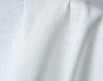 Linen-cotton bright white fabrics /  linen-cotton fabrics by the half-metres