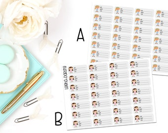 Female Doctor Appointment Planner Stickers