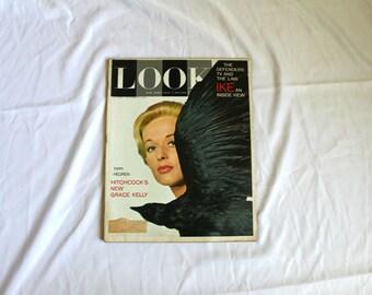Grace Kelly Look Magazine. December 4, 1962 Rare Vintage Grace Kelly From The Birds Life Magazine. 1960s Life Magazine. Alfred Hitchcock